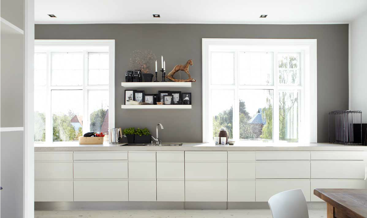 Pin love 4 mensole di legno per una cucina senza pensili - Profondita pensili cucina ...
