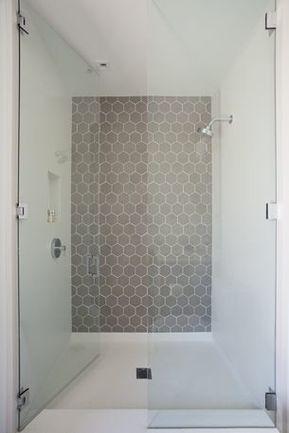 Piastrelle esagonali doccia