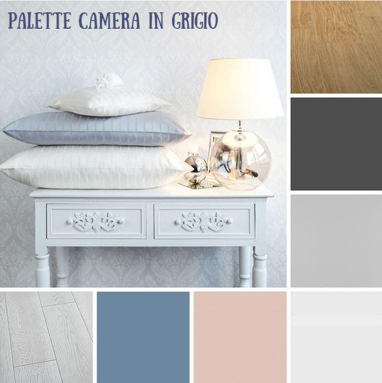 Paletta camera da letto tonalità del grigio