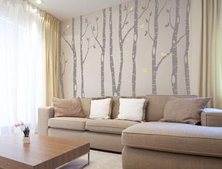 stickers murali floreali per il soggiorno