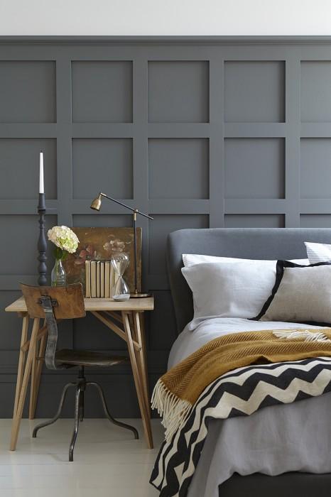 Testiera del letto in grigio scuro