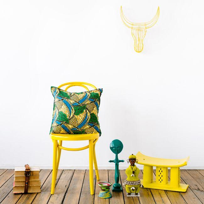 arredi e accessori in giallo e verde