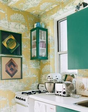 Cucina in giallo e verde