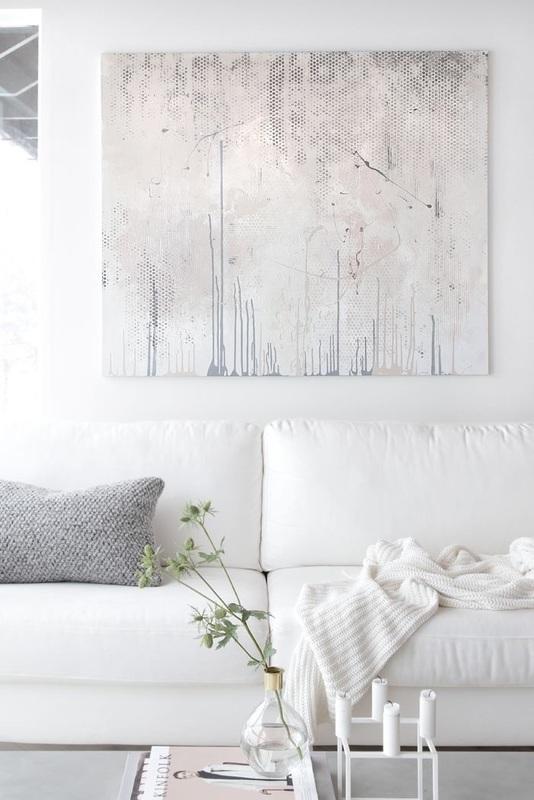 Arredare soggiorno con bianco
