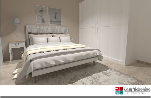 Arredare camera da letto in stile shabby chic - progetto