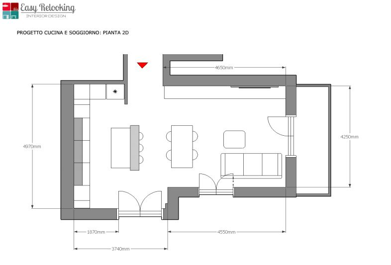 Open space Cucina e soggiorno1