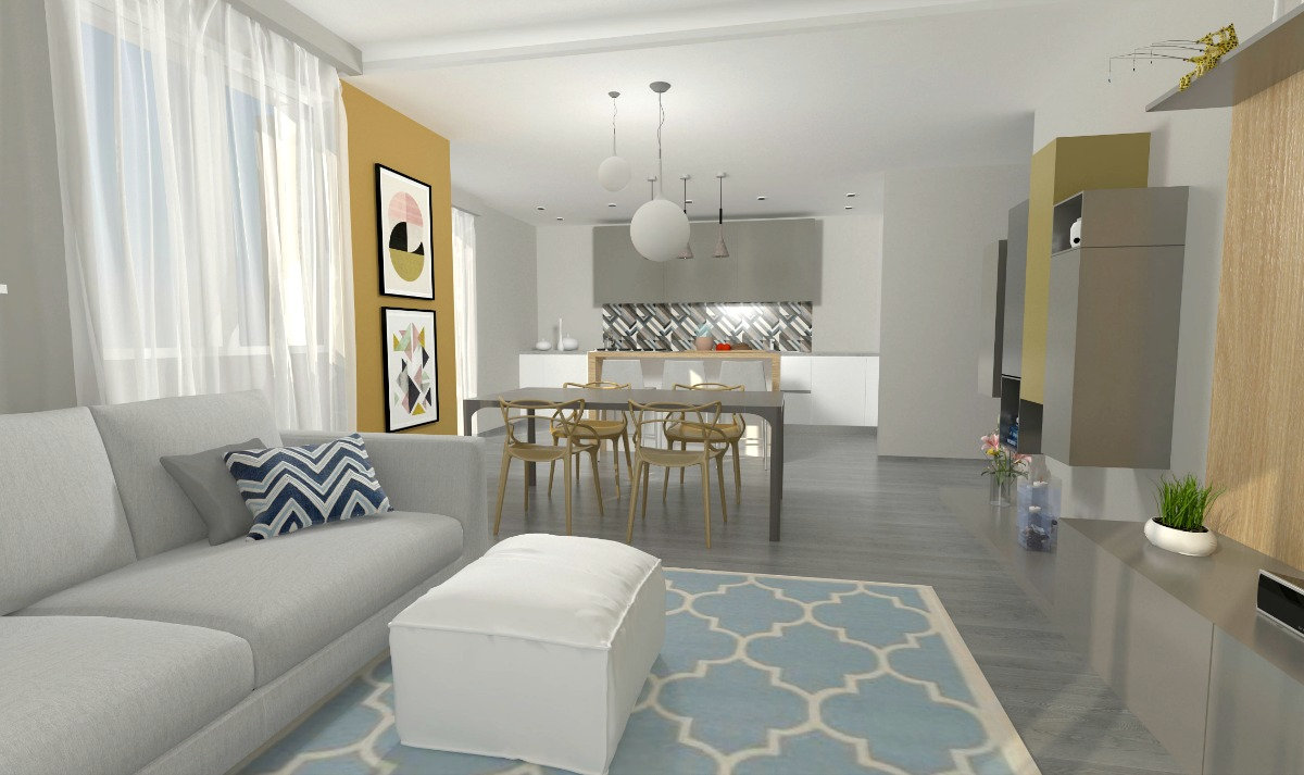 Come arredare un open space cucina e soggiorno la casa di for Cucina soggiorno 15 mq