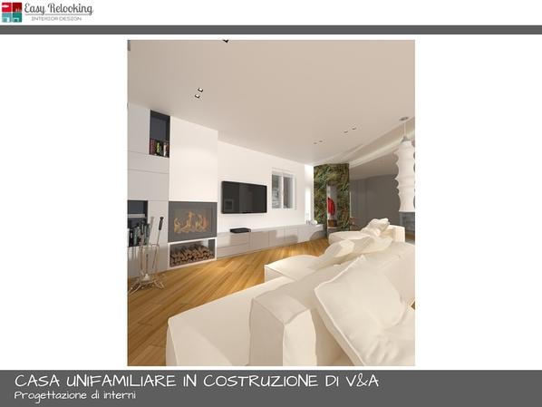 Progettazione soggiorno con cucina separata