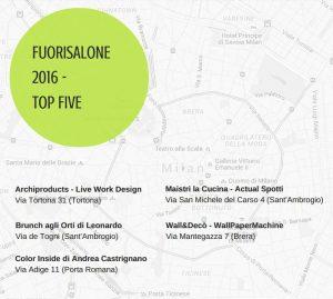 Mappa Fuorisalone2016