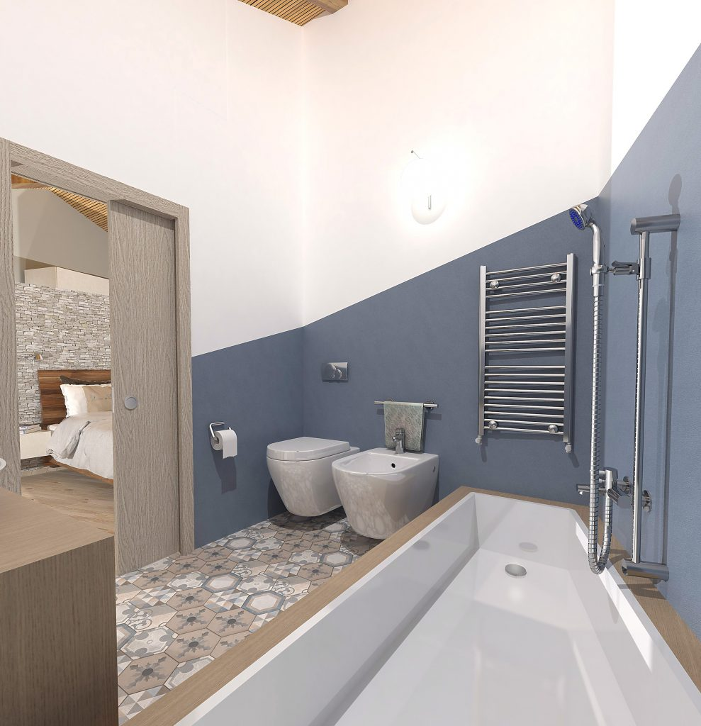 render bagno in camera