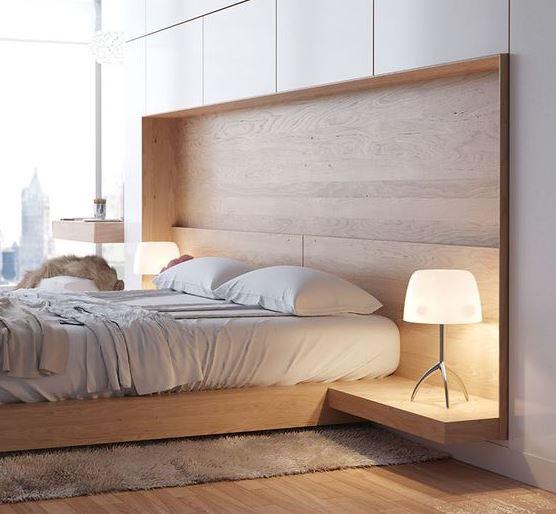 parquet parete dietro al letto