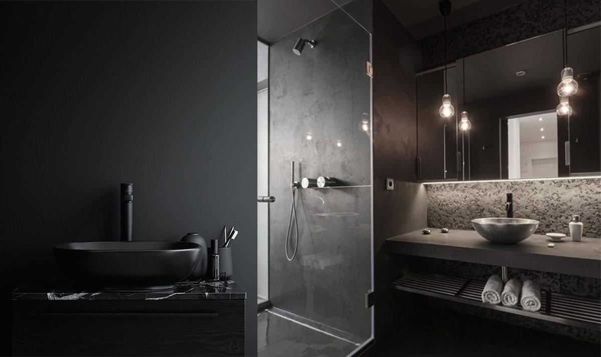 Ispirazioni e consigli per un bagno in nero easyrelooking - Bagno neri viserbella ...
