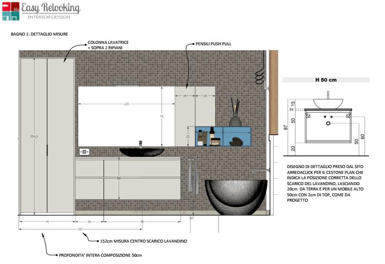 bagno colonna lavanderia