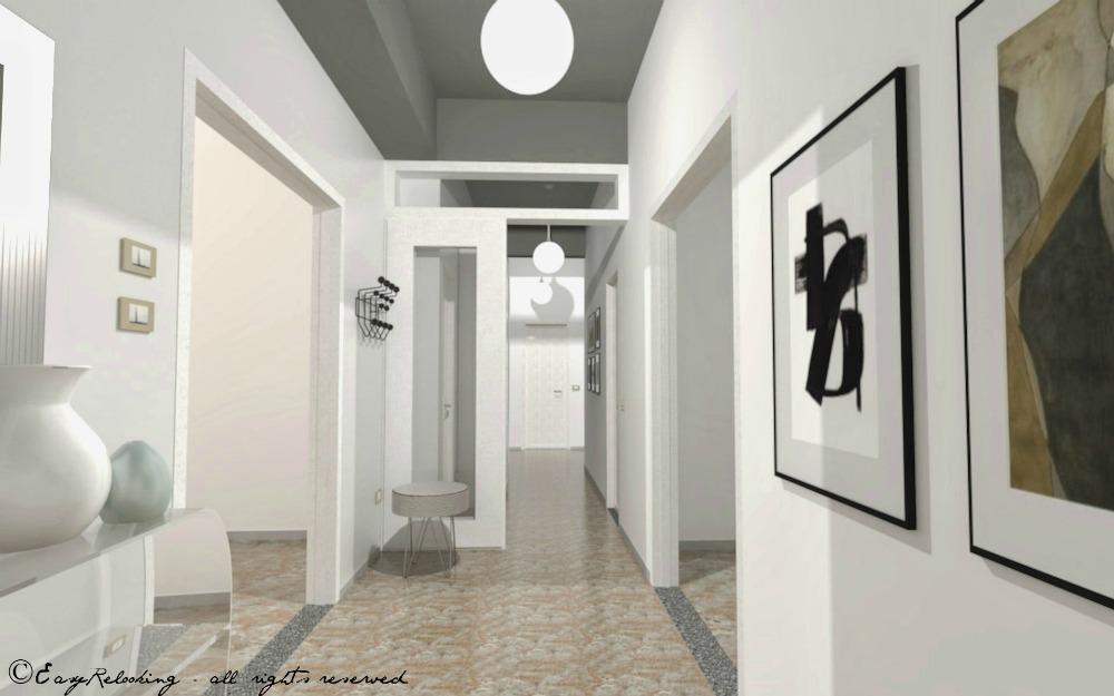 Corridoio lungo e stretto colore e accessori easyrelooking for Arredare un corridoio stretto