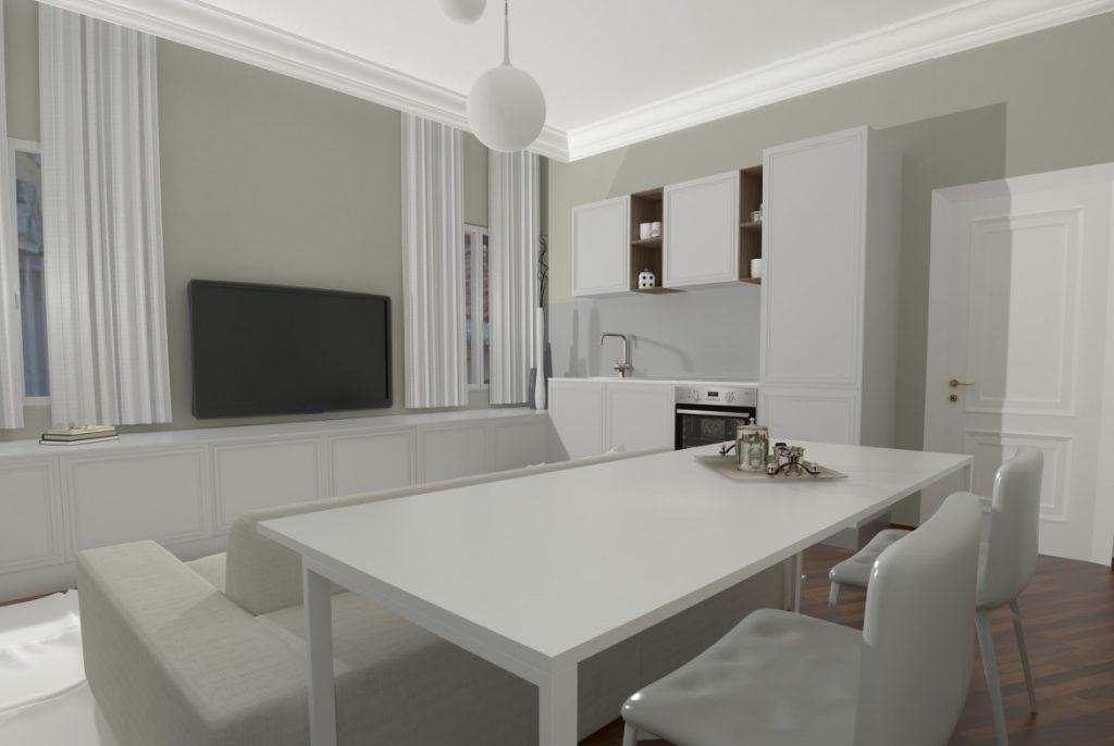 soggiorno classico colore bianco
